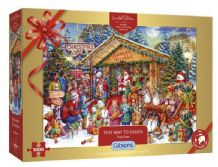 This Way To Santa  Limited Edition Gibsons Jigsaw Puzzle (1000 pieces)